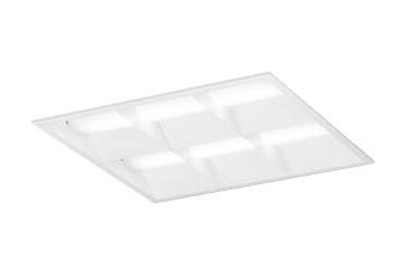 XD466032P2CLED-スクエア LEDユニット型ベースライト省電力タイプ 450シリーズ埋込型 ルーバー付 埋込穴450PWM調光 白色 FHP32W×4灯相当オーデリック 施設照明 オフィス照明 物販店照明 天井照明