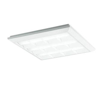 XL501037P3BLED-スクエア LEDユニット型ベースライトスタンダードタイプ 450シリーズ直付/埋込兼用型 ルーバー付 埋込穴500非調光 昼白色 FHP32W×4灯相当オーデリック 施設照明 オフィス照明 物販店照明 天井照明