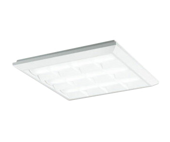 XL501038P3CLED-スクエア LEDユニット型ベースライトスタンダードタイプ 450シリーズ直付/埋込兼用型 ルーバー付 埋込穴500非調光 白色 FHP32W×3灯相当オーデリック 施設照明 オフィス照明 物販店照明 天井照明