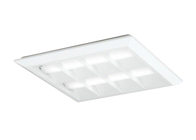 XL501054P2CLED-スクエア LEDユニット型ベースライト省電力タイプ 450シリーズ直付/埋込兼用型 ルーバー付 埋込穴500非調光 白色 FHP32W×4灯相当オーデリック 施設照明 オフィス照明 物販店照明 天井照明