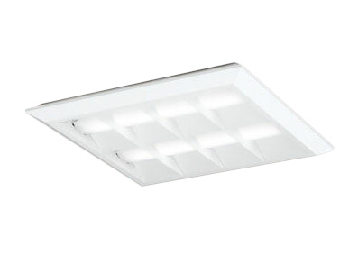 XL501055P1BLED-スクエア LEDユニット型ベースライト省電力タイプ 450シリーズ直付/埋込兼用型 ルーバー付 埋込穴500PWM調光 昼白色 FHP32W×3灯相当オーデリック 施設照明 オフィス照明 物販店照明 天井照明