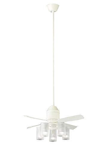 パナソニック Panasonic 照明器具LEDシャンデリア付 シーリングファン DCタイプφ900吊下1500mm 5W 電球色 60形電球5灯相当 リモコン付 非調光XS75512Z【~10畳】
