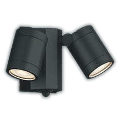 照明器具やエアコンの設置工事も承ります 電設資材の激安総合ショップ AU43321Lエクステリア LED一体型 スポットライト人感センサー付タイマー付ON-OFFタイプ 広角非調光 照明器具 バルコニー ガレージ用照明 防雨型 毎日続々入荷 白熱球60W×2灯相当コイズミ照明 電球色 本日限定
