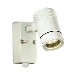 【当店おすすめ!防犯用品】大光電機 照明器具LEDアウトドアスポットライト 超広角60°人感センサー付 ON/OFFタイプI電球色 白熱灯80W相当DOL-4407YW