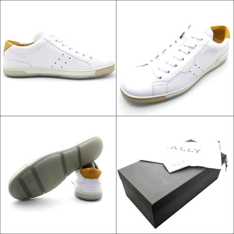 Barry /Bally 男式皮革運動鞋 AINOR 運動鞋白色
