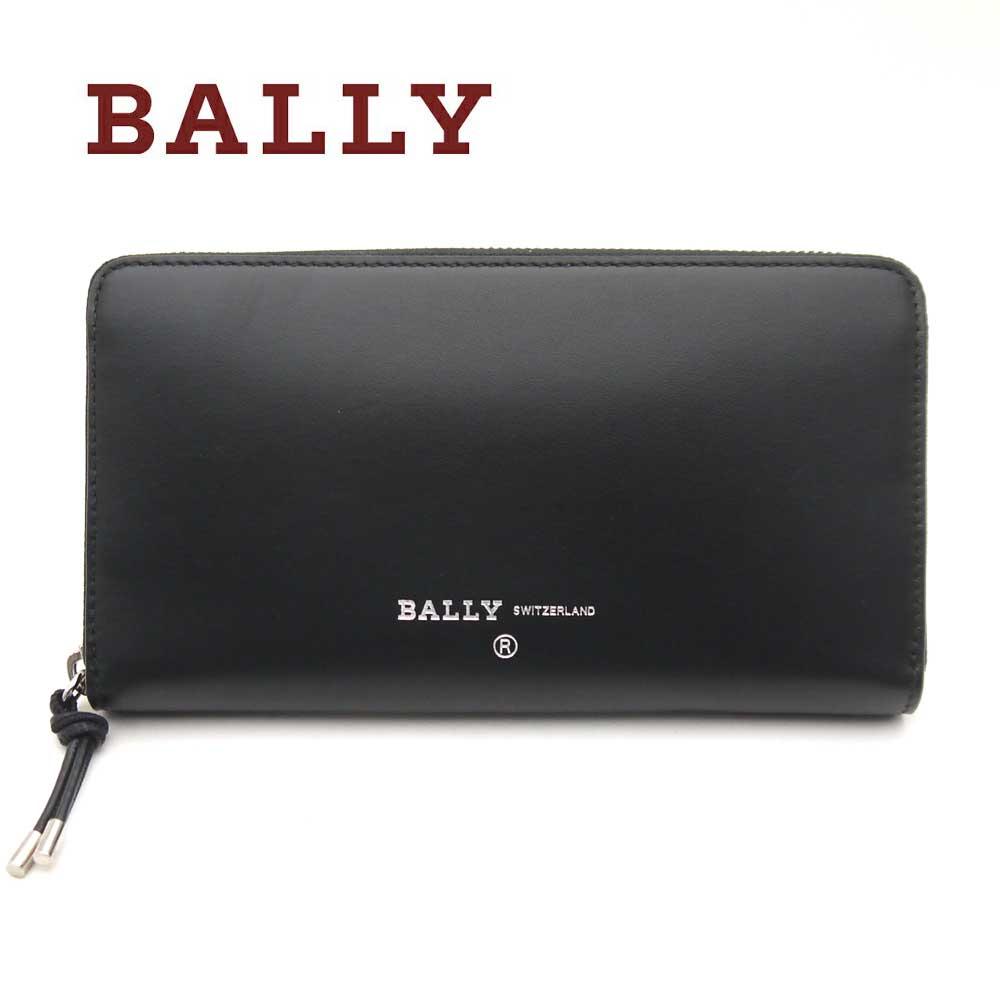 バリー/Bally メンズファスナー付きラウンド長財布 BALEN.DI ブラック【即発送可能】