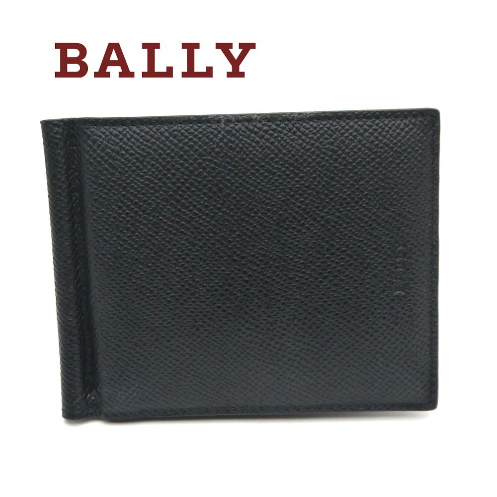 バリー/Bally 二つ折りマネークリップ財布 BRIGADIERE BODOLO.B ブラック×レッド 【即発送可能】