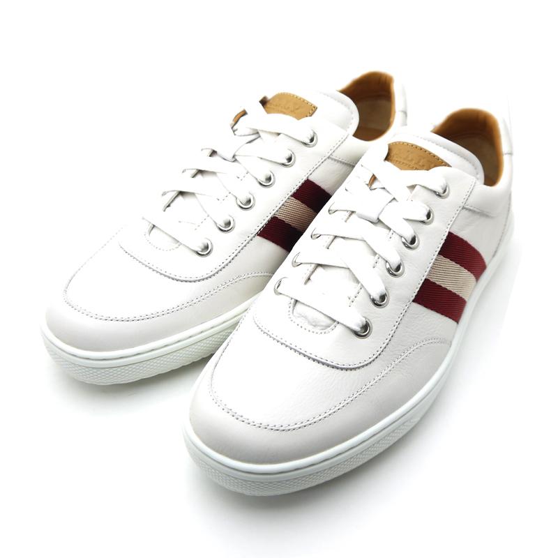 Barry /Bally 男式皮革運動鞋 ORIANO 運動鞋白色