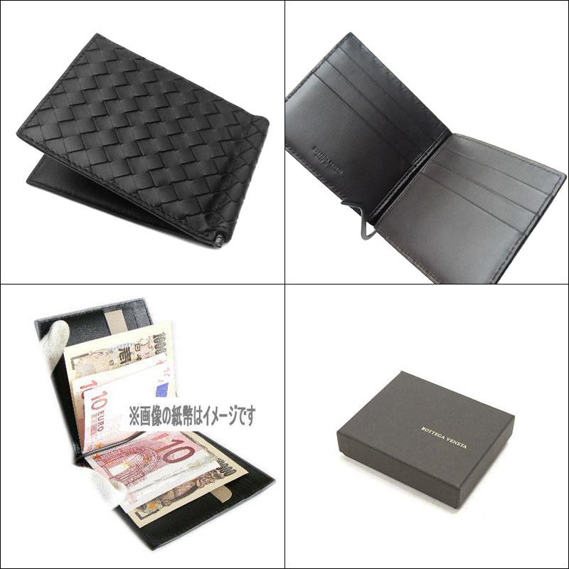123180 1000 ボッテガ Benatar  BOTTEGA VENETA money clip wallet-V4651-NERO black