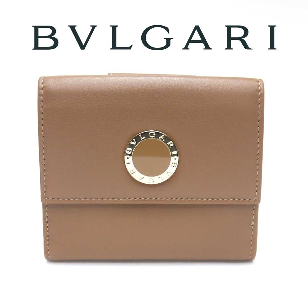 ブルガリ/BVLGARI ダブルホック財布 BB COLORE コローレ 33383 WALNUT