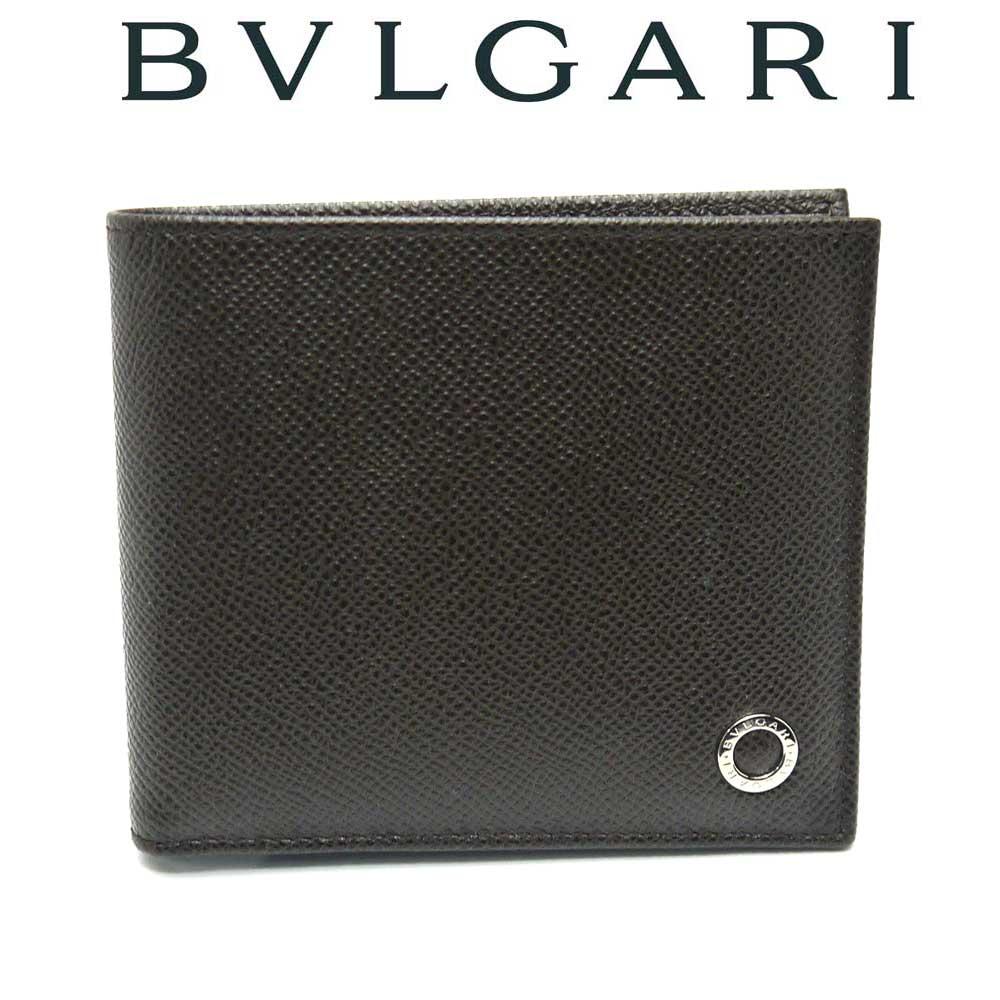 【新品】ブルガリ BVLGARI 二つ折り財布 BULGARI BULGARI MAN 36329 ダークブラウン【即発送可能】