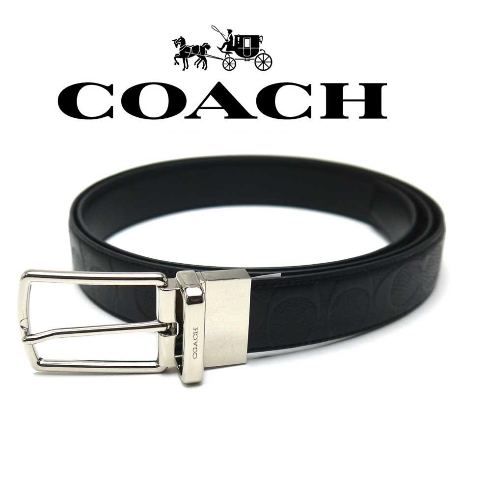 コーチ/Coach メンズ リバーシブルベルト F55158BK コーチアウトレット