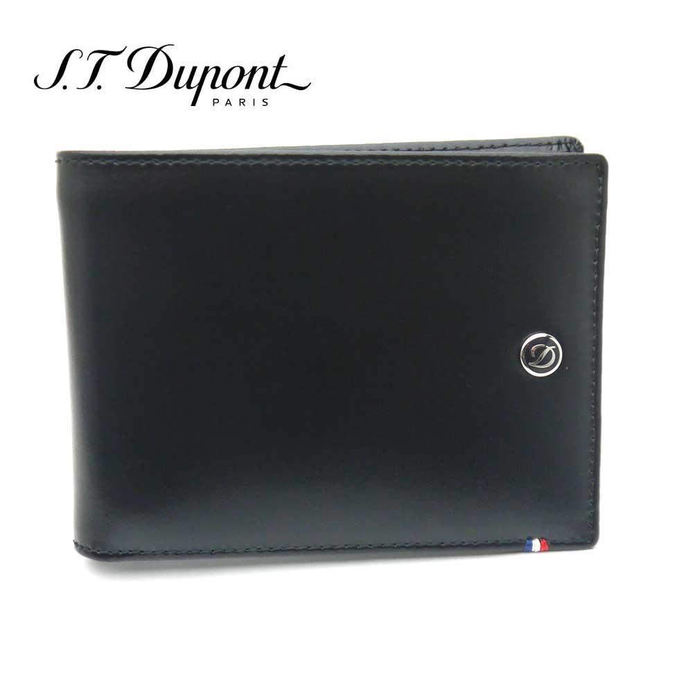 S.T. Dupont・デュポン 二つ折り財布 180002 ブラック