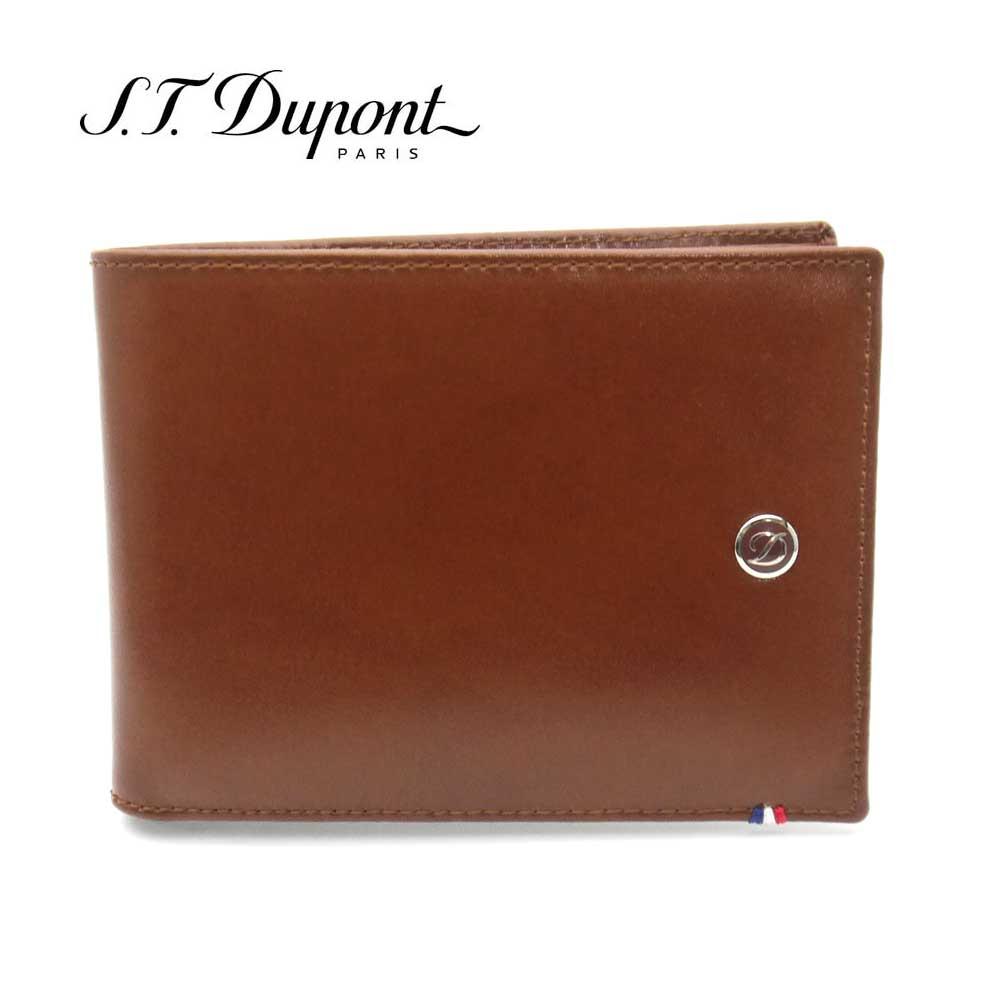S.T. Dupont・デュポン 二つ折り財布 180102 ブラウン