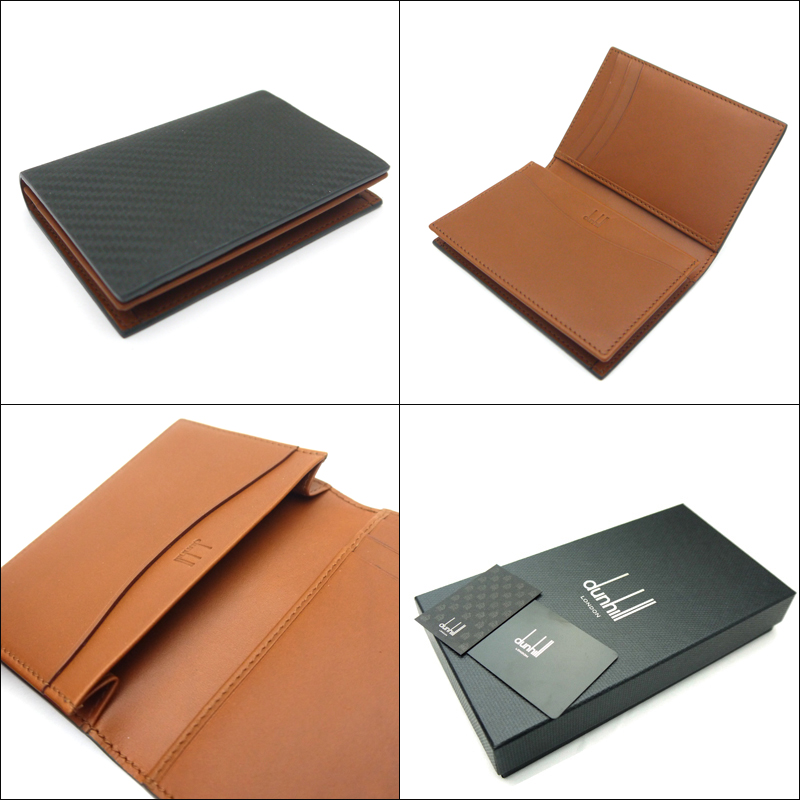 Tstaile rakuten global market dunhill dunhill business card color deep green and inner brown see picture material carbon leather specifications card put 3 pocket 2 1 pocket community with reheart Images