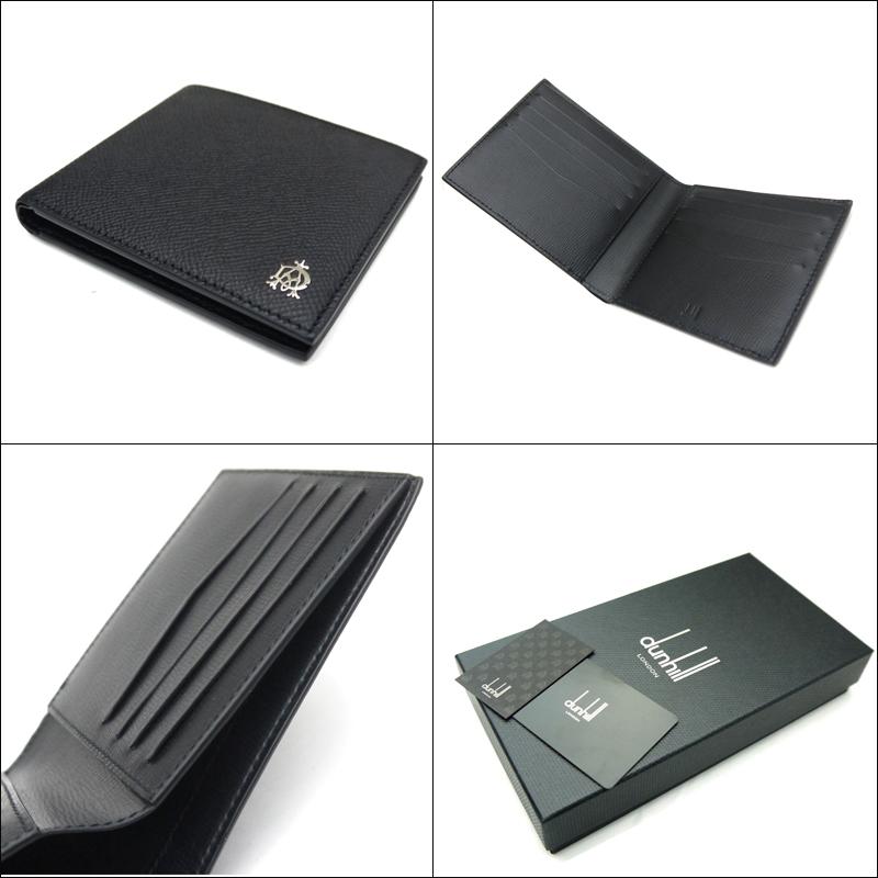 新品 ダンヒル dunhill 二つ折りカード付財布・BOURDON ボードン L2X230A ブラック 即発送可能QrdthxsBC