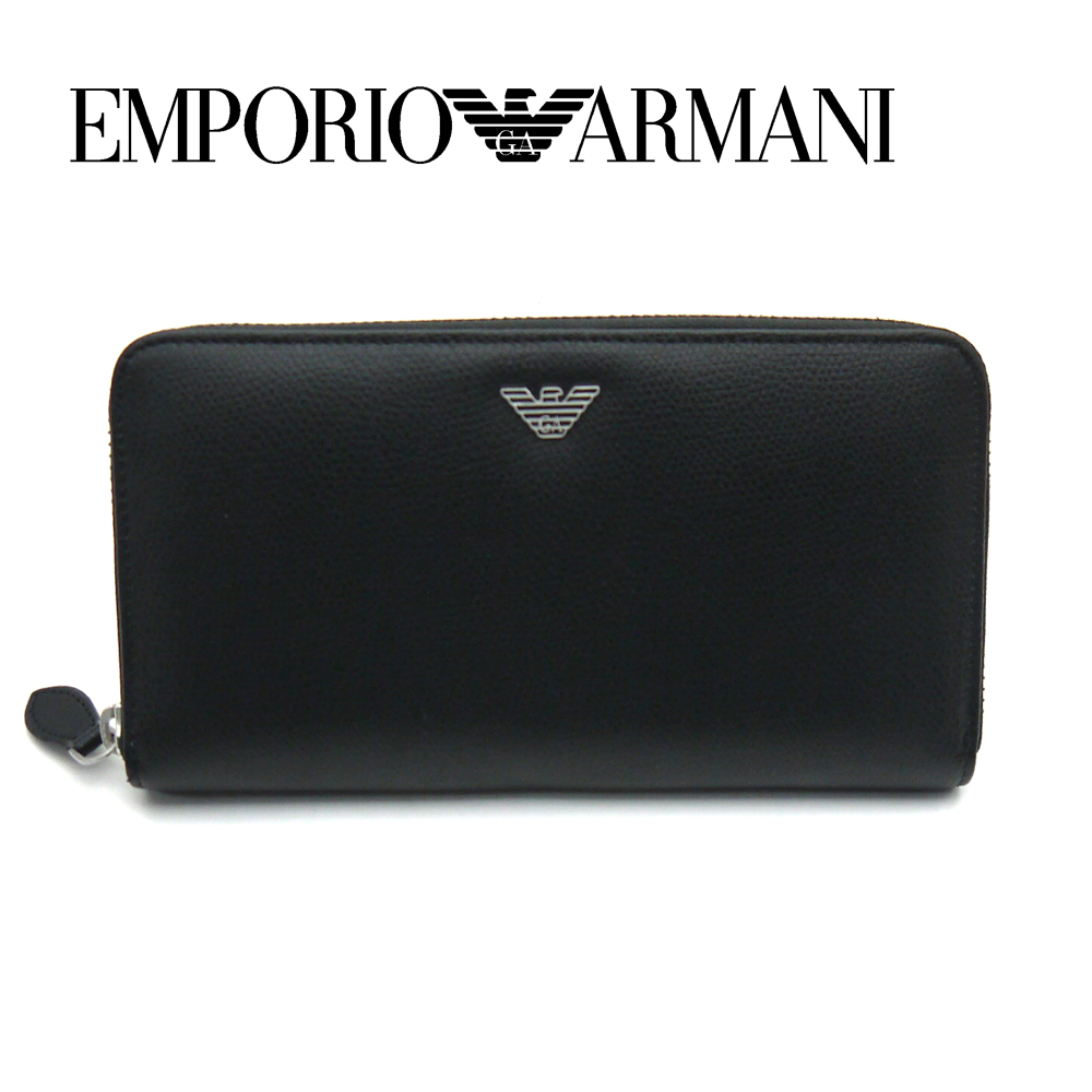 エンポリオ・アルマーニ/EMPORIO.ARMANI ラウンドファスナー長財布 Y4R255 YAQ2E 81072 ブラック