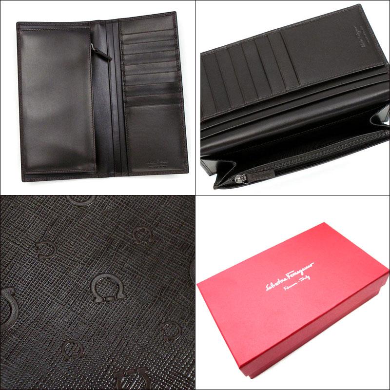 Head wallet, 66-9303 APOLLO Apollo T.MORO dark brown with Ferragamo /Salvatore Ferragamo men fastener