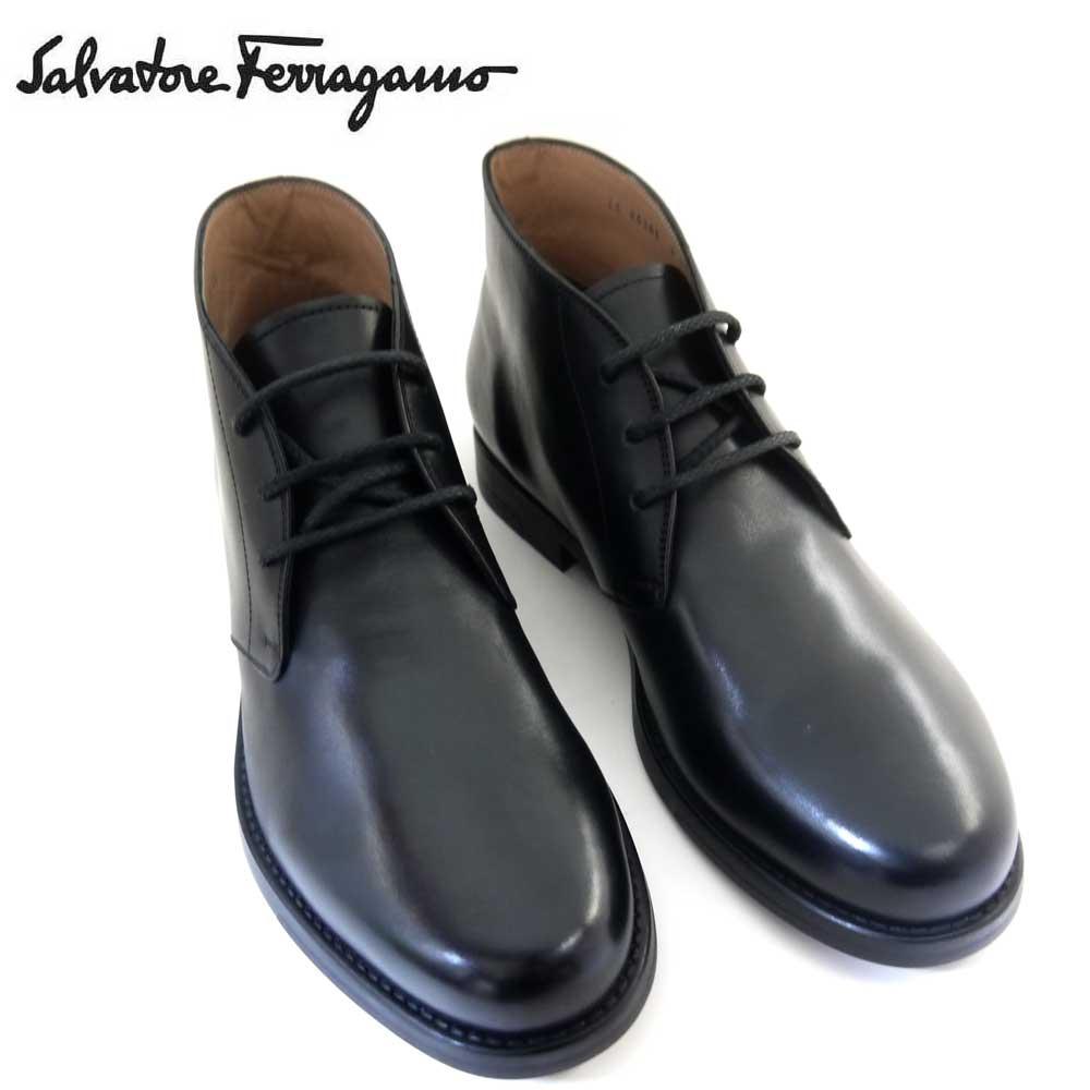 送料無料 新品 新作 フェラガモ Salvatore Ferragamo メンズ 送料無料でお届けします シューズ 再再販 SACHIE NERO ブラック 靴 ブーツ 即発送可能 725835