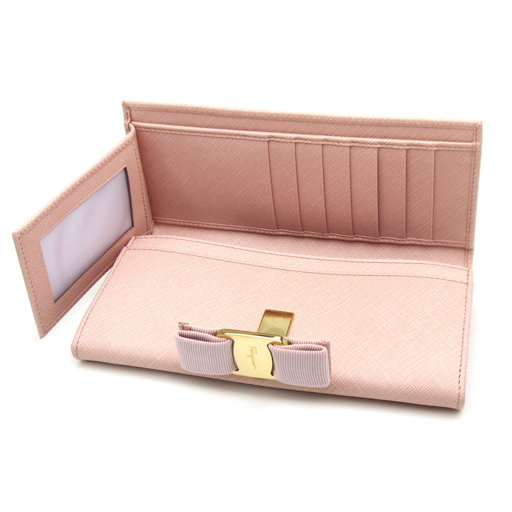 Ferragamo /Salvatore Ferragamo zipper wallets and light pink 22-A900 BONBON