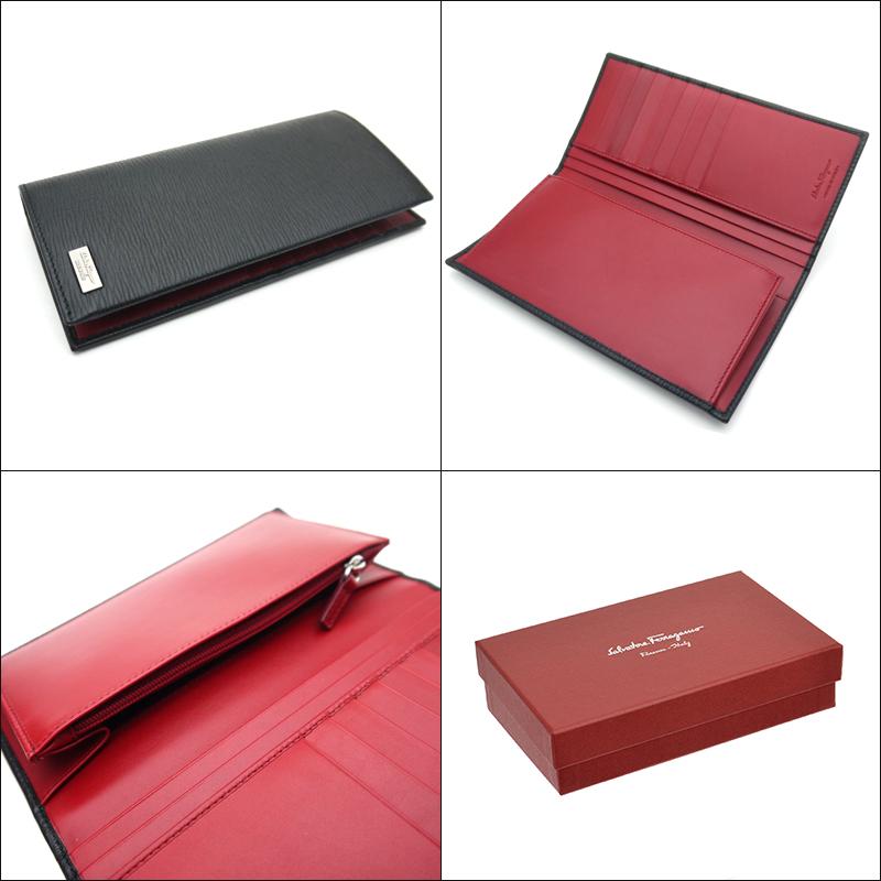 Ferragamo /Salvatore Ferragamo mensfsner with wallet 66-9970 NERO black / wine red