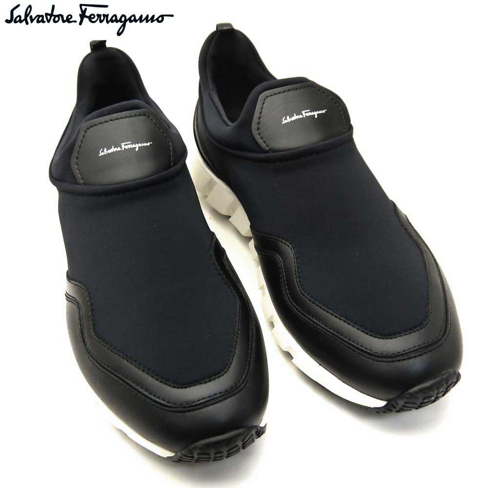 フェラガモ/Salvatore Ferragamo メンズ シューズ 靴 スニーカー COLUMBIA E 02A911 688497  NERO ブラック 【即発送可能】