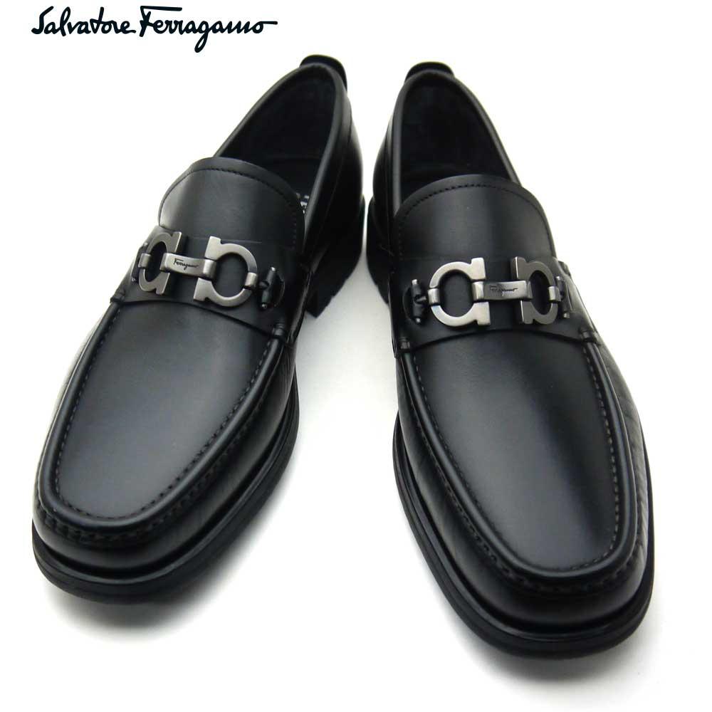 フェラガモ/Salvatore Ferragamo メンズ シューズ 靴 モカシン DAVID 0671792 NERO EEE ブラック 【即発送可能】