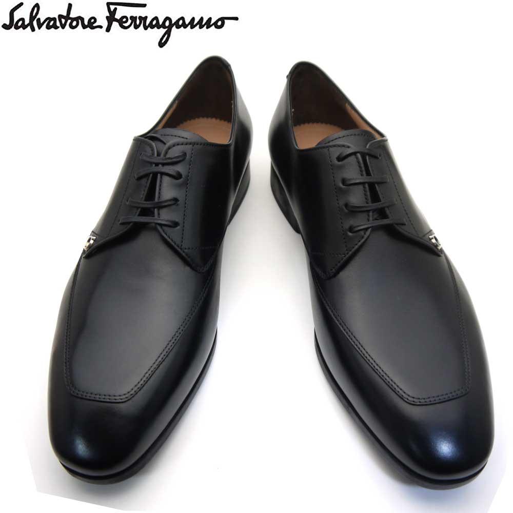 フェラガモ/Salvatore Ferragamo メンズ シューズ 靴 レースアップ 新作 TRISTANO 0713613 NERO ブラック 【即発送可能】