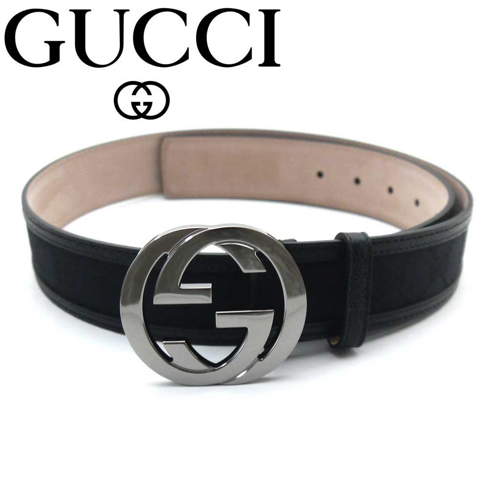 tstaile: Gucci /GUCCI belt 114984 F40IR 1000 black ...