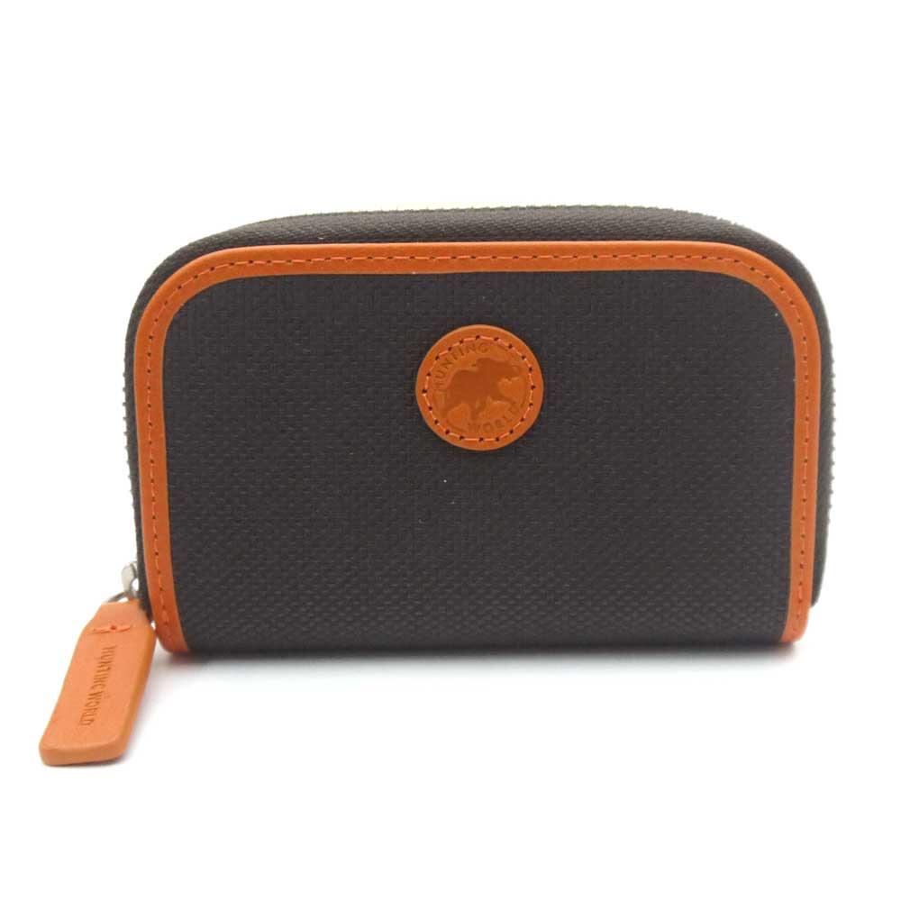 ハンティング ワールド/HUNTING WORLD 小銭入れ コインケース ADOBE 677 435 ダークブラウン×オレンジ