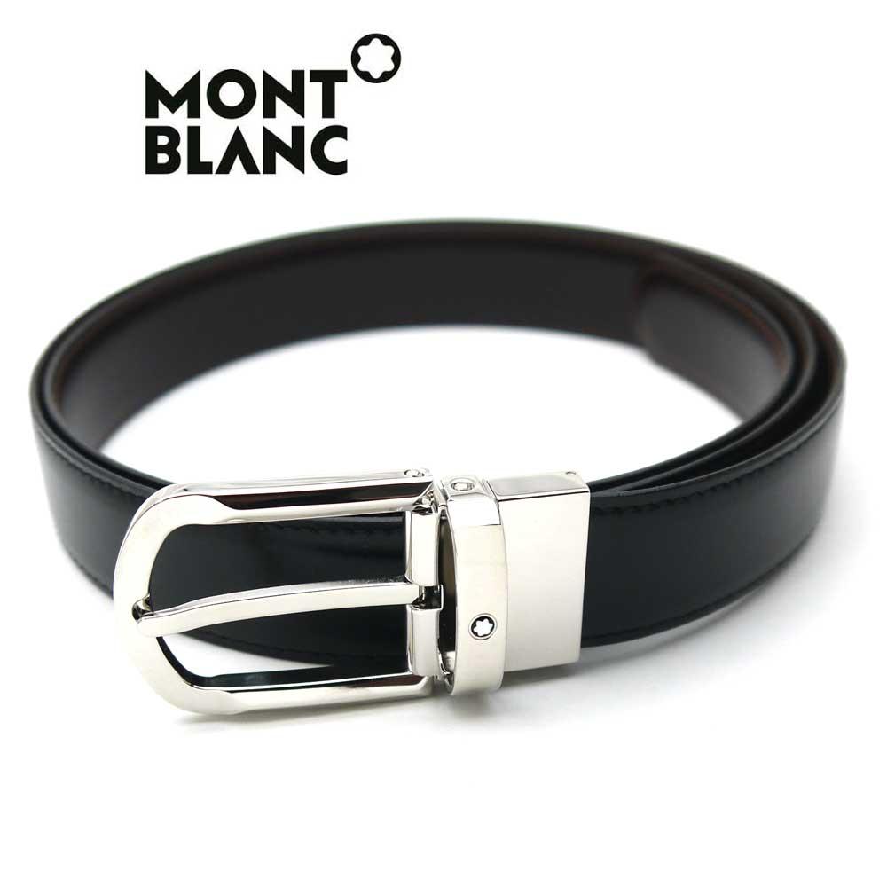 豪華な 新品 送料無料 モンブラン MONT 予約販売 メンズリバーシブルベルト BLANC 111080