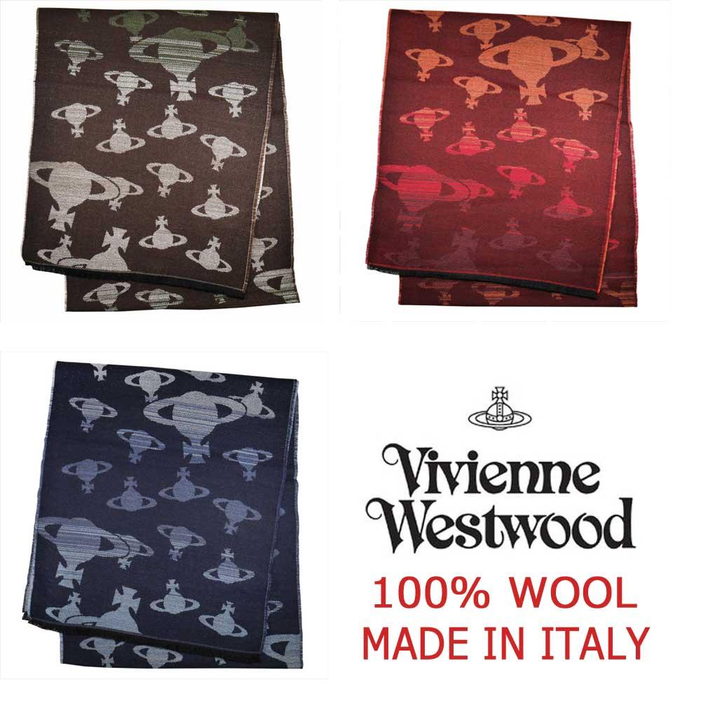 【新品】Vivienne Westwood ヴィヴィアンウエストウッド マフラー81030038-10645 100% ウール 3色【即発送可能】