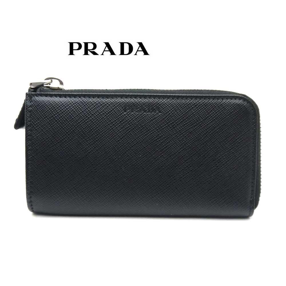 プラダ/PRADA キーケース 財布 コインケース サフィアーノ 2MC036 053 F0002 ブラック【即発送可能】