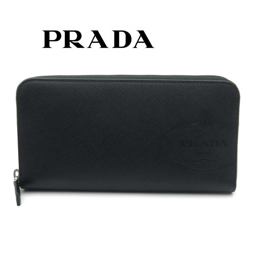 プラダ/PRADA メンズ ラウンドファスナー長財布 サフィアーノ 2ML317 2MB8 F0002 ブラック【即発送可能】