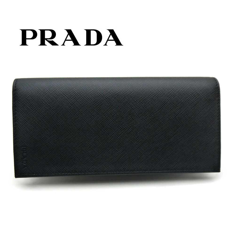 プラダ/PRADA メンズ ファスナー付長財布 サフィアーノ/SAFFIANO 2MV836 053 F0002 ブラック【即発送可能】
