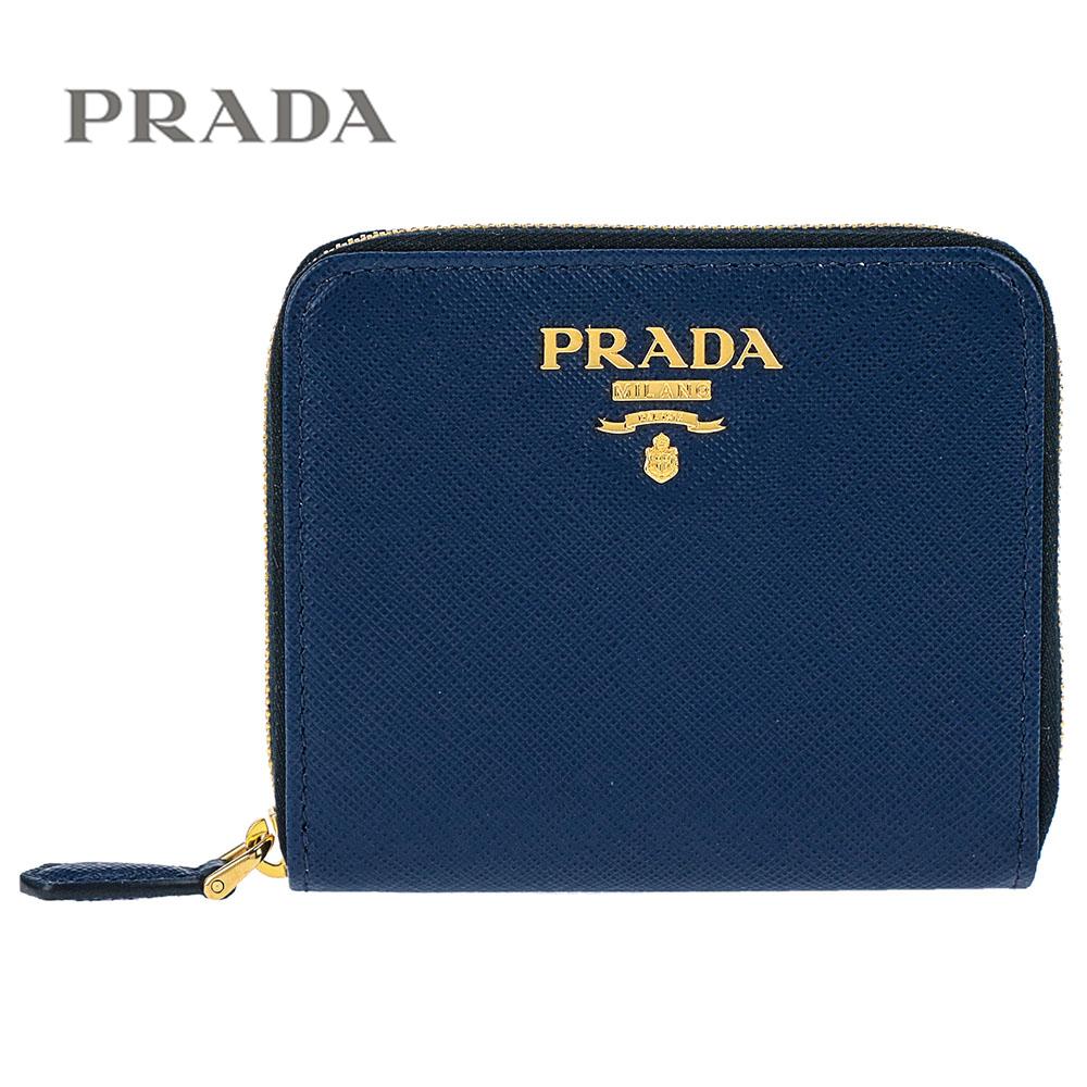 プラダ/PRADA レディース ラウンドファスナー財布 サフィアーノ 1ML036 QWA F0016 BLUETTE ブルー【即発送可能】