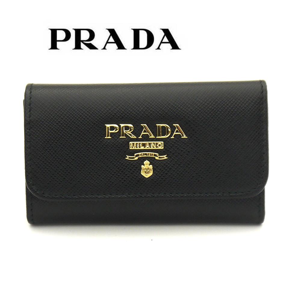 プラダ/PRADA 6連キーケース サフィアーノSAFFIANO METAL 1PG222 QWA F0002 ブラック
