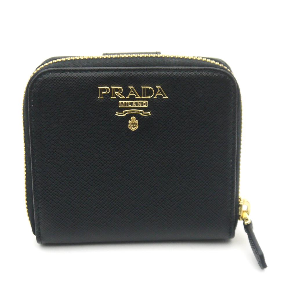 プラダ/PRADA レディース ラウンドファスナー財布 サフィアーノ 1ML522 QWA F0002 NERO ブラック