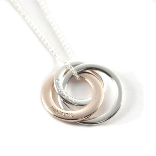 601f1fbb6 tstaile: 1837 Tiffany /TIFFANY&CO necklace interlocking grip circle  pendant Small SS/RUBEDO 28672411 | Rakuten Global Market