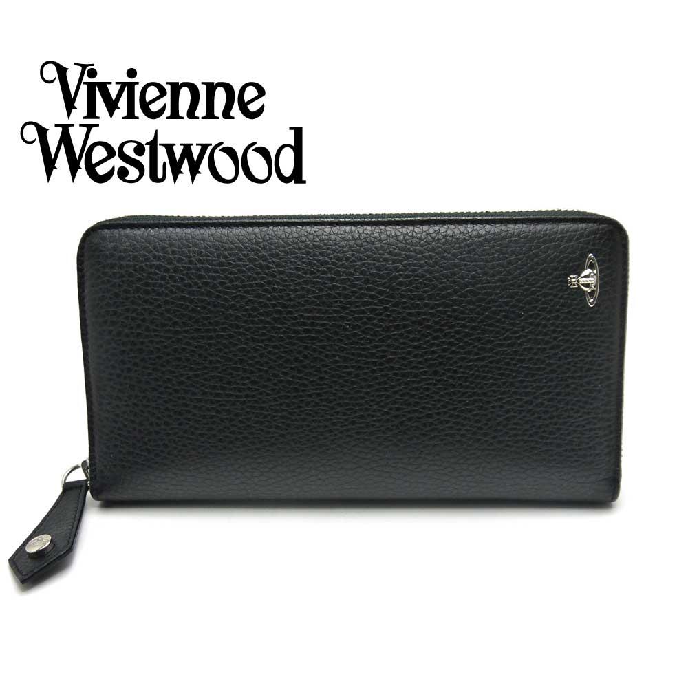 Vivienne Westwood/ヴィヴィアンウエストウッド ラウンド財布 メンズ ブラック 51080021 BK MILANO