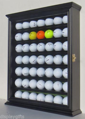 【米国取り寄せ品納期20日】ゴルフボールディスプレイラック48個収納(ガラス戸付き)