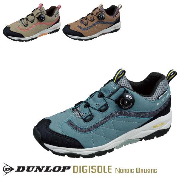 ウォーキングシューズ レディース DUNLOP ダンロップ デジソール ノルディックウォーキング801WP レディース 4E 全3色 DW801 スニーカー イチオシ