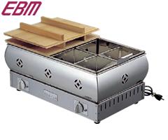 江部松商事/EBM 18-8 電気おでん鍋 2尺 8ッ仕切 0876200 (電気式・業務用)02P30May15