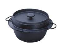\南部鉄器の老舗「岩鋳」製品!/ 南部鉄器 岩鋳 鍋 IH200V対応 ごはん鍋5合炊「南部鉄器で炊くと、ごはんがうまい!」