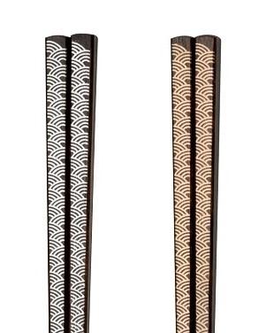 豊富な品 木製 漆塗り 伝統的な手法 拭き漆 を用い モダンに仕上げたお箸です 伝統的な手法をモダンに 銀24.0cm 一文字箸 金 青海波 金22.5cm 数量限定アウトレット最安価格 銀