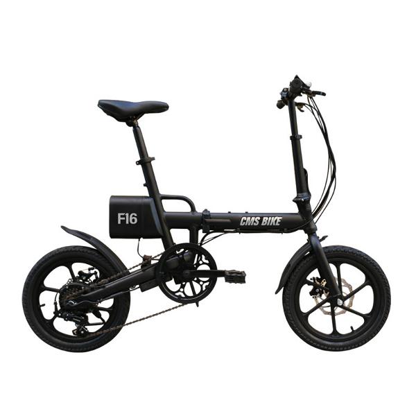 【送料無料】電動自転車 電動アシスト自転車 自転車 16インチ バッテリー シマノ製6段変速機(電気自転車)折りたたみ ライト スタンド 自転車 【YZF16】【あす楽】