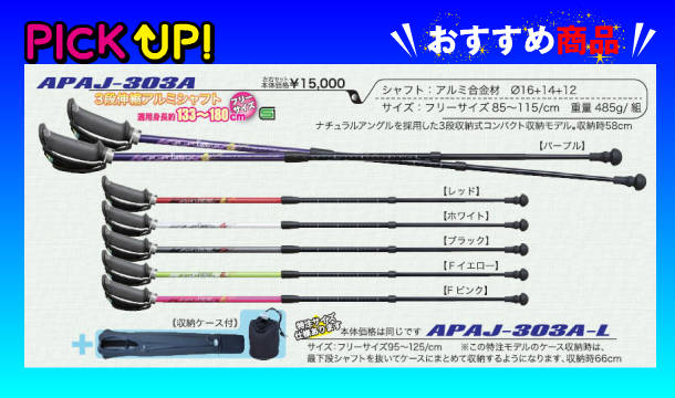【kizaki】キザキ ノルディックウォーキングポール〔APAJ-303A〕