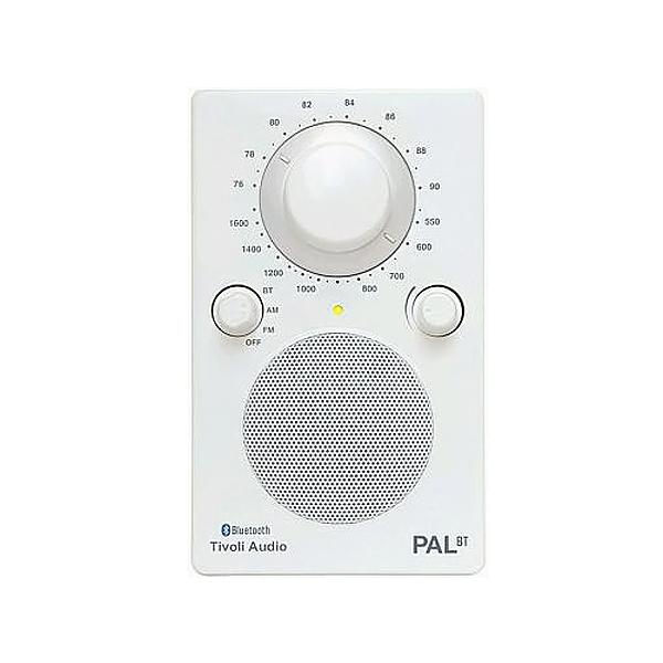 カラー:ホワイトポータブルラジオ チボリオーディオPAL BT 防滴使用 Audio AM/FMモノラルラジオBluetooth 耐候性 ブルートゥースワイヤレス技術搭載 Tivoli