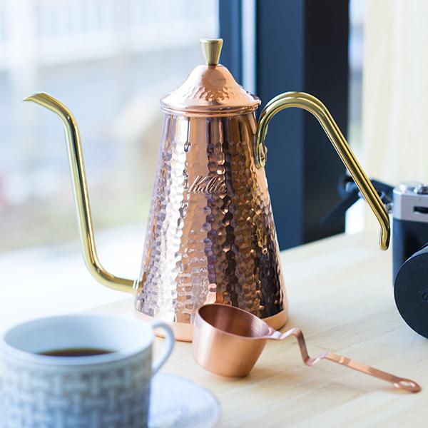 ドリップポットスリム 700CUTSUBAME & Kalitaカリタ 銅製 made in tsubameハンドドリップを追及したいかたにおすすめ 日本製