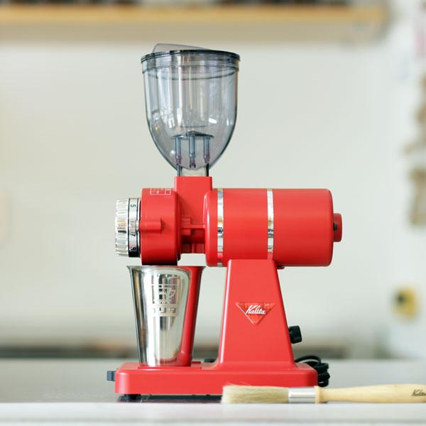 ナイスカットG(Nice cut G)インディアンレッド家庭用電動コーヒーグラインダー カリタ kalitaスペシャルティコーヒー豆100gオマケ付きナイスカットミルの後継機 新築祝い・ご褒美に